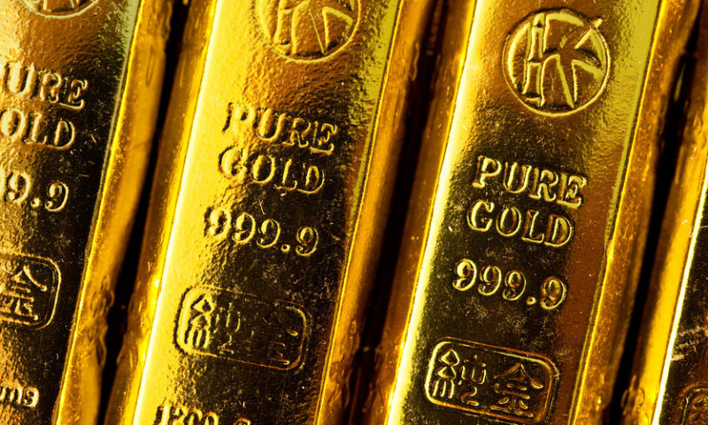 Gold prices settle lower after upbeat data on the U.S. economy
