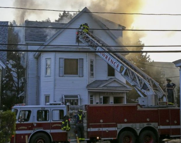 Gas-related explosions set fire to homes near Boston
