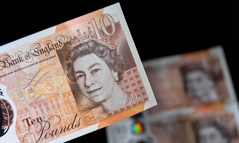 FTSE 100 climbs as pound tumbles on political worries