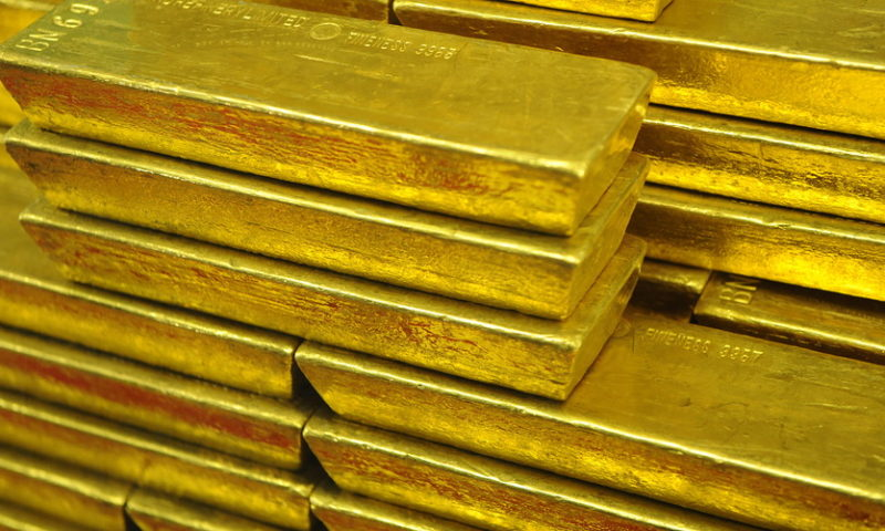 Gold finishes with a loss as U.S. equities market climbs, dollar strengthens