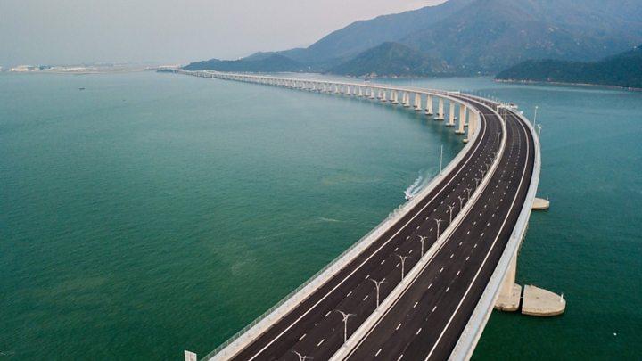 World's longest sea crossing: Hong Kong-Zhuhai bridge opens