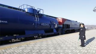 South Korean train crosses DMZ into North Korea