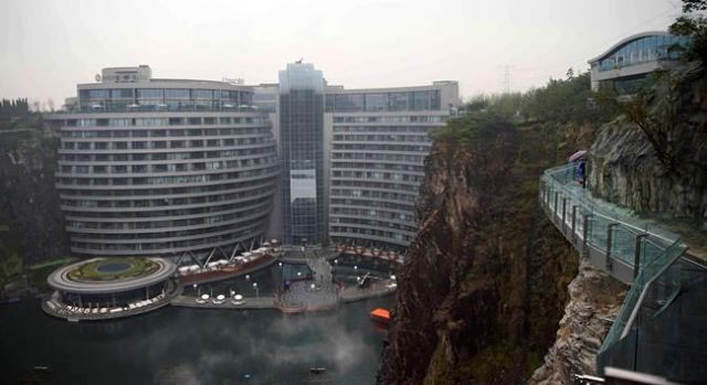 Luxury hotel in pit mine