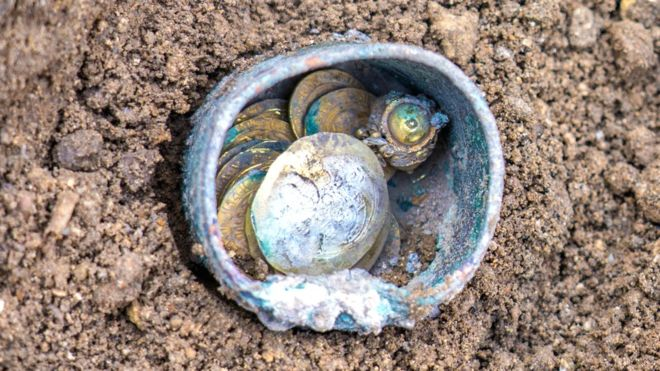Rare gold coins found in Israeli city of Caesarea