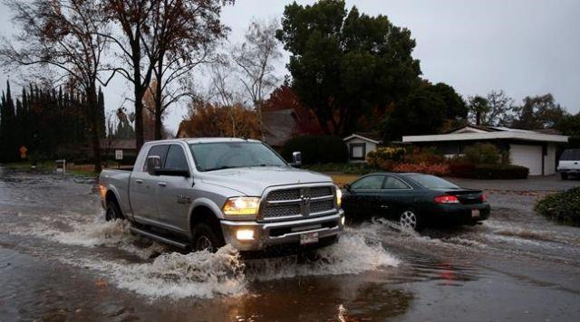 Floods recede in fire's wake