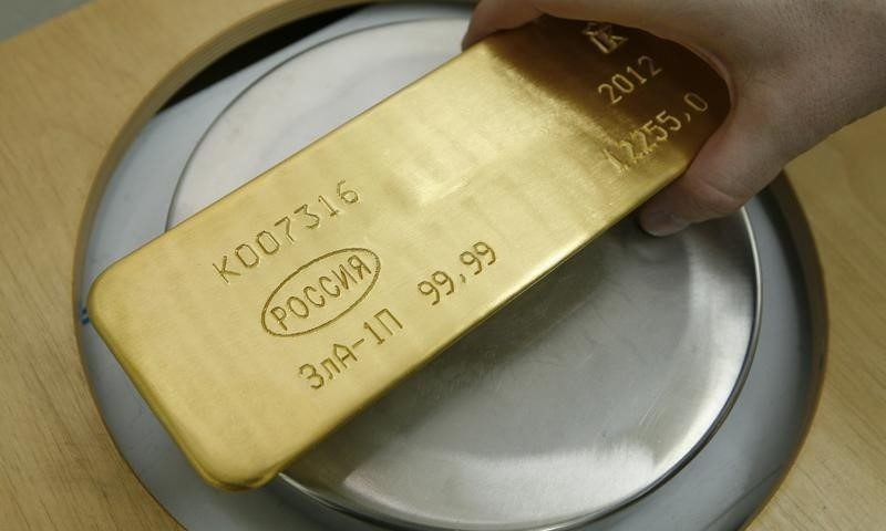 PRECIOUS-Gold rises, holds near 6-month highs on falling equities