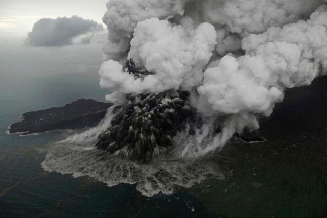 Volcano blows itself apart