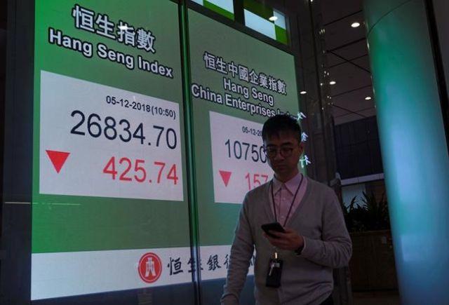 Asian stocks skid after arrest