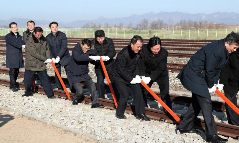 Koreas Break Ground on Railways but Sanctions Block Project