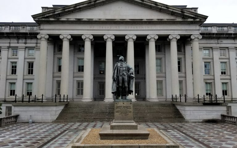 US Treasury yields move lower as trade war talks continue