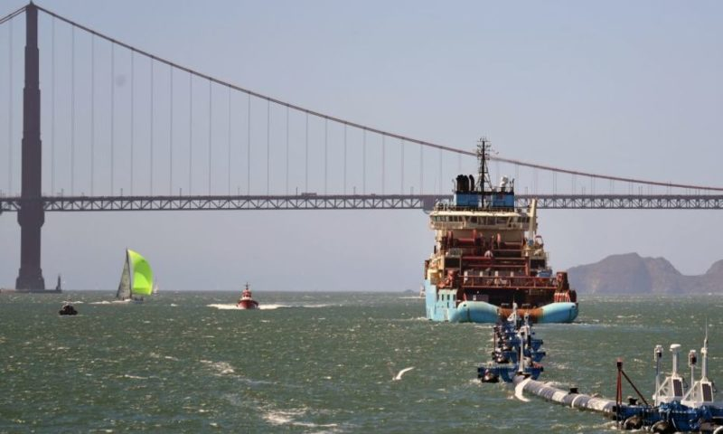 Massive Ocean Cleanup Device Towed Home Broken