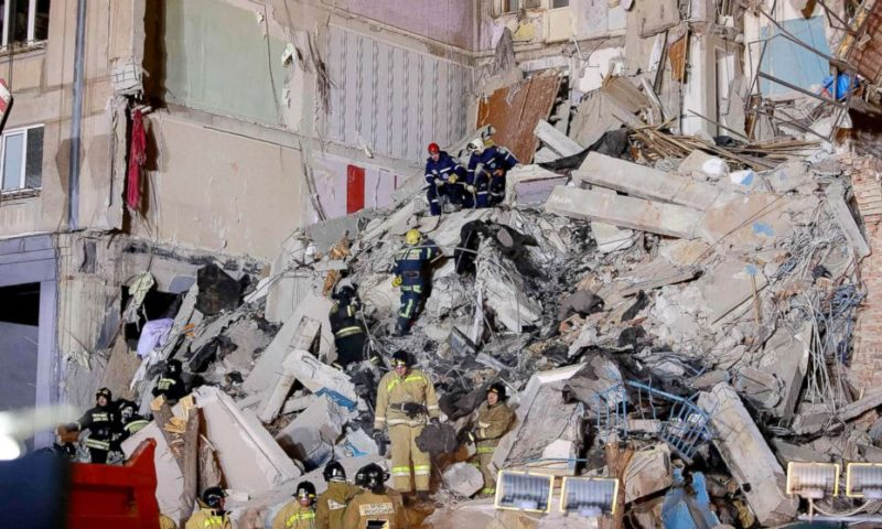 Russian investigators deny explosives caused deadly building blast