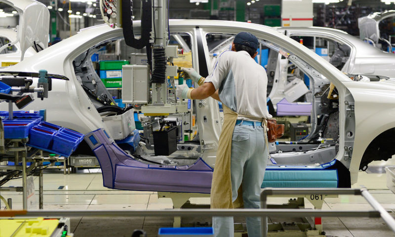 Toyota profit plunges even as sales hold up