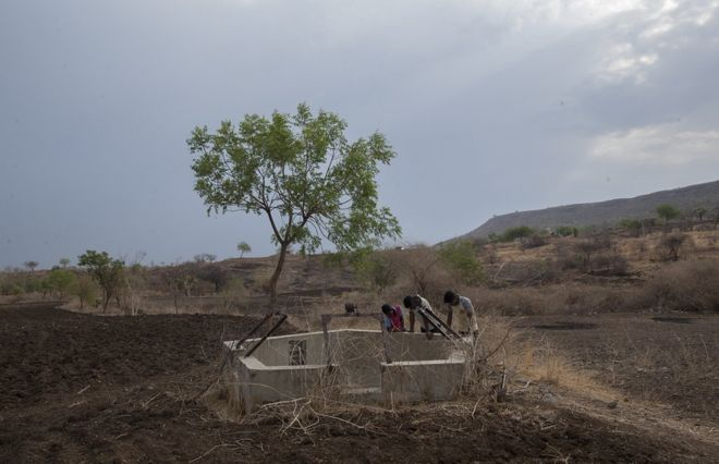 The Indians forced out of their homes by drought