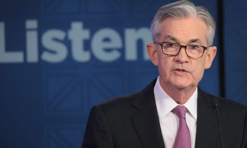Dow rallies over 500 points after Powell seen to leave door open to rate cut