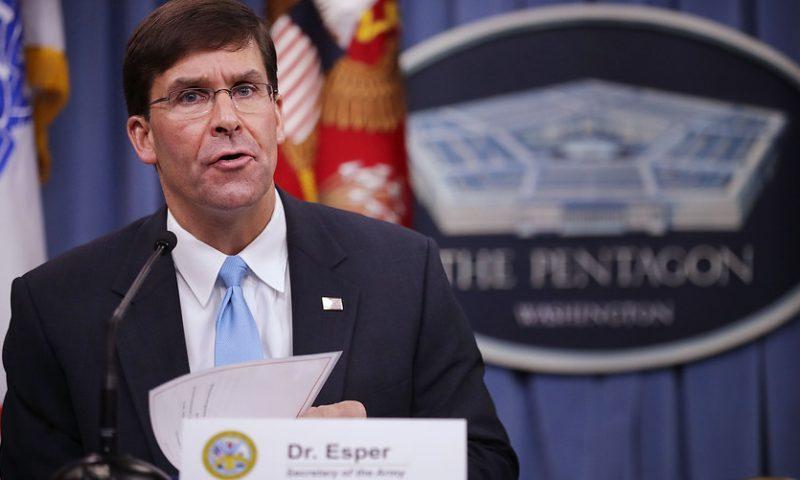 Trump to formally nominate Mark Esper as defense secretary