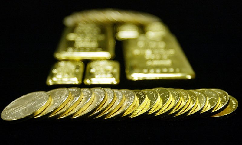 Gold retreats as the U.S. stock market strengthens, traders await Fed minutes for clues on interest rates