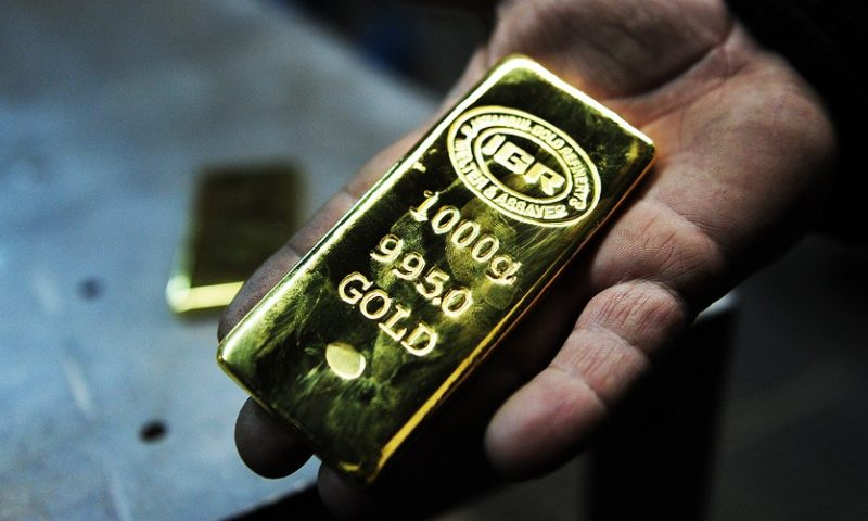 Gold posts lowest finish in over a week on news of progress in U.S.-China trade negotiations