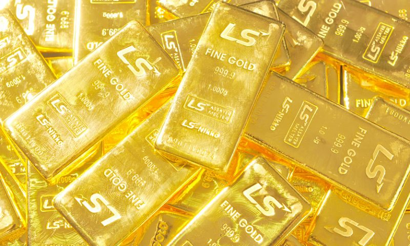 Gold moves higher after downbeat U.S. ISM services data