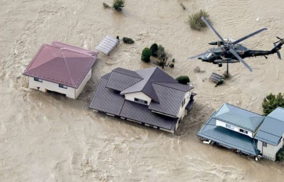 Typhoon Hagibis: Japan suffers deadly floods and landslides from storm