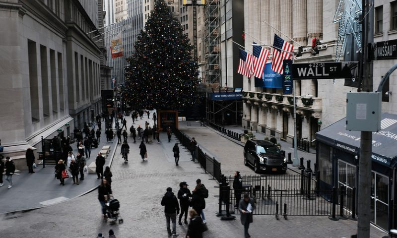 Nasdaq clings to gain and records ninth straight record close in abbreviated pre-Christmas session