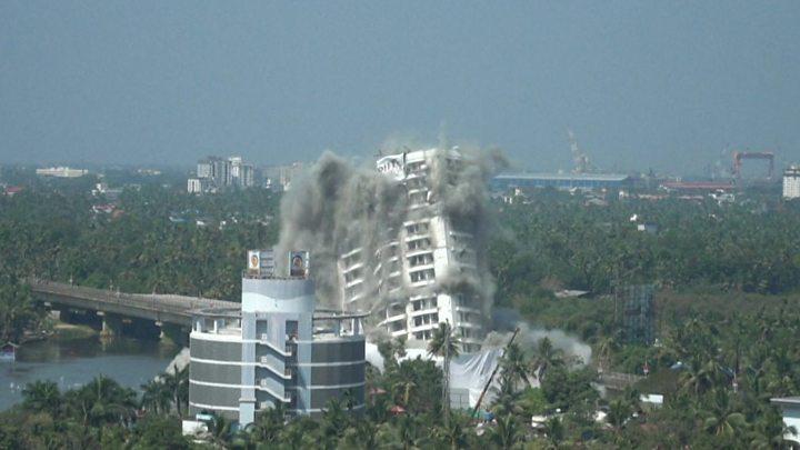 India demolishes Kerala skyscrapers over environmental violations