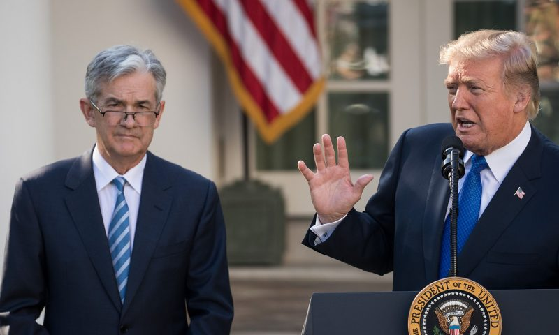 Trump slams Fed as Dow dives more than 1,800 points