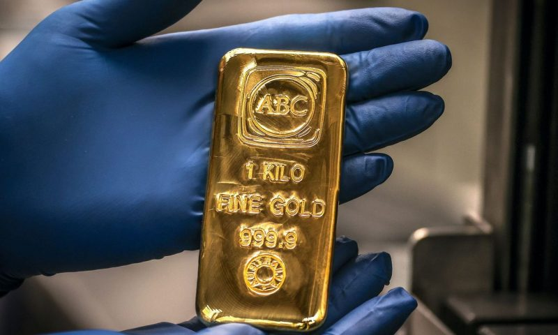 Gold prices settle higher as dollar weakens