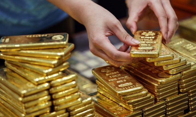 Gold settles lower, then climbs after Fed policy statement