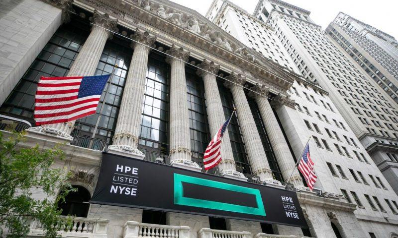 HP Enterprise earnings, revenue top estimates, sending shares up 3%