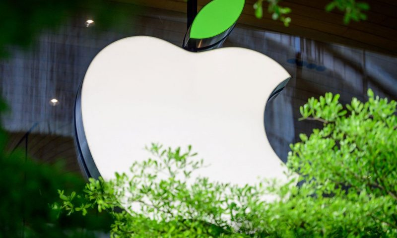 Apple stock notches first record close since January