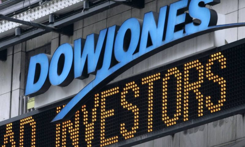 Dow industrials sink at Thursday's open, on pace for longest string of losses in 2 months